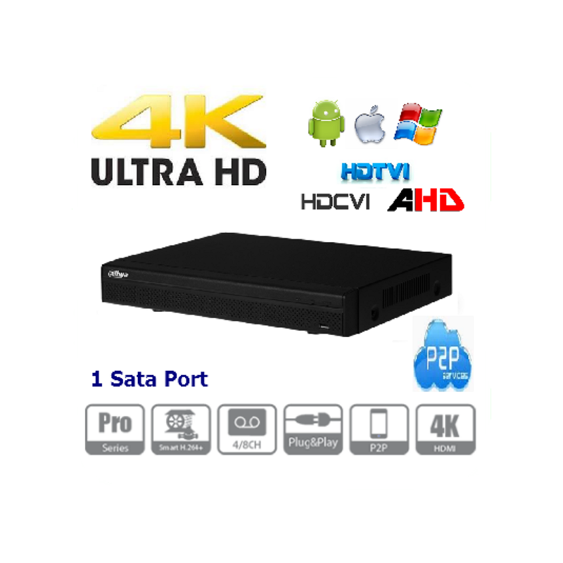 8 Kanal Hybrid DVR  4K Ultra HD